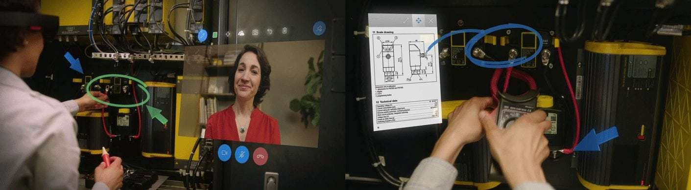 Microsoft HoloLens remote Assist On-site at the location