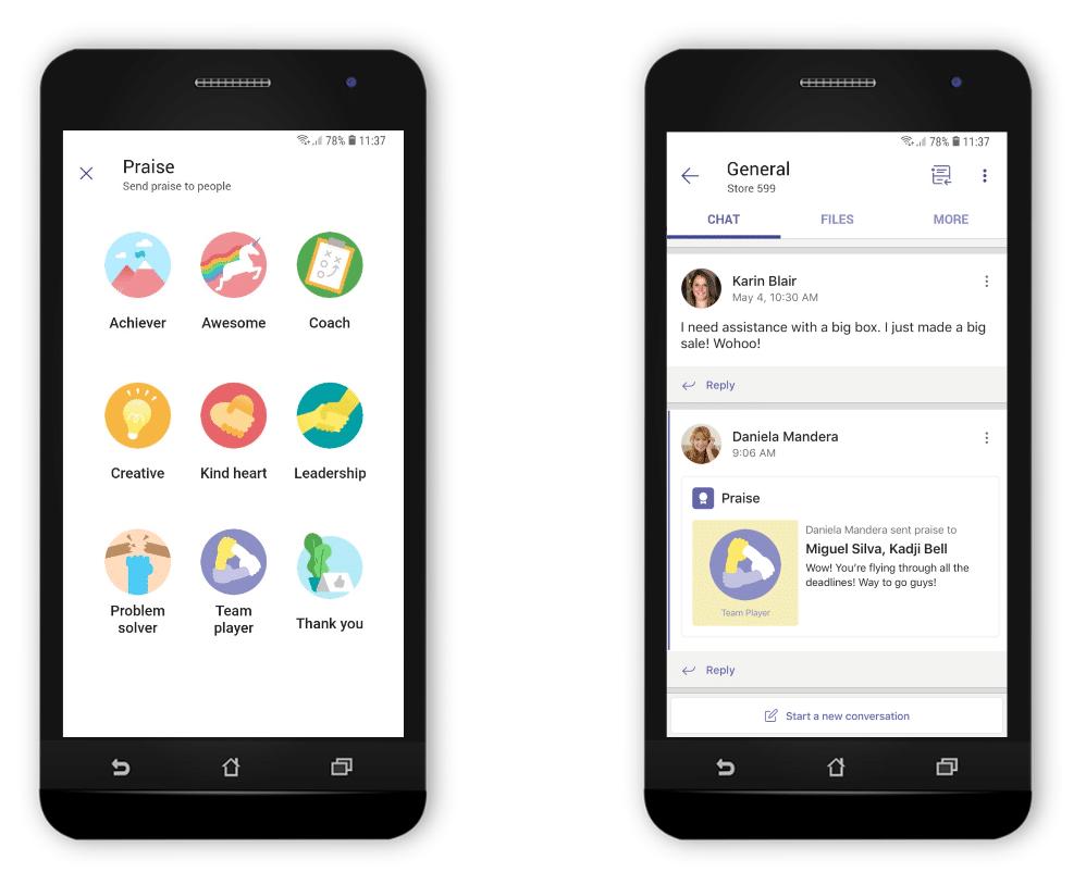 Neues Feature in Microsoft StaffHub motiviert Mitarbeiter per Like - Share Badge