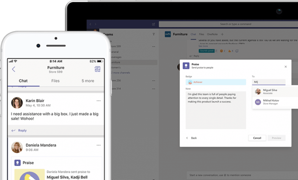 Neues Feature in Microsoft StaffHub motiviert Mitarbeiter per Like Share badges