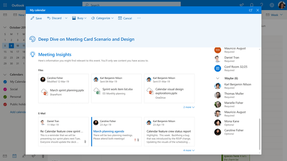 Mehrwerte von Office 365 Outlook Online Meeting Insights