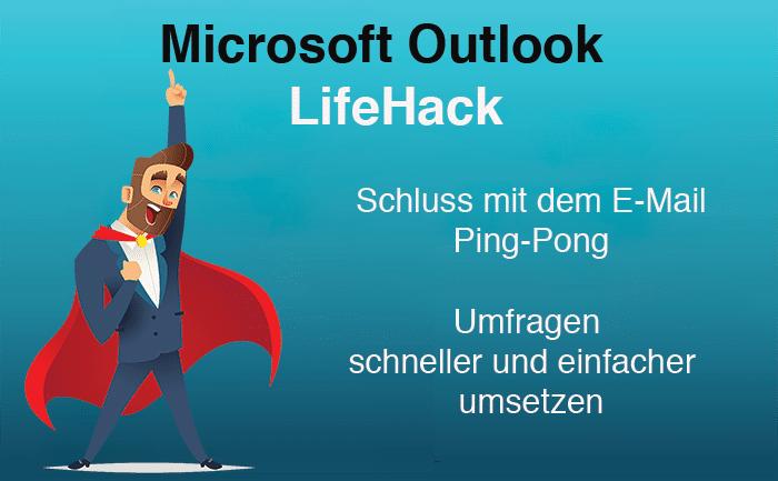 Outlook LifeHack: Umfragen schnell, einfach und professionell mit Outlook erstellen